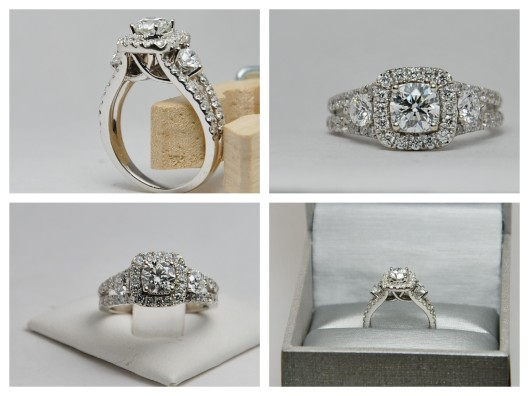 Ideal Cut Diamond in a gorgeous vintage halo setting