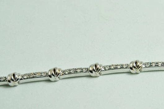 14KW 1.0ctw Diamond Tennis Bracelet
