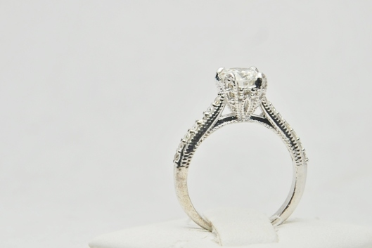 One Carat Old European Cut Diamond Ring